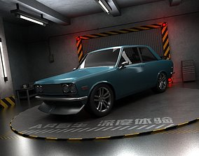 3D model Nissan panoramic view of cars sedans sports cars
