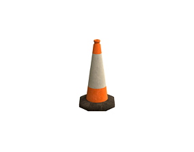Traffic cone 3D asset low-poly