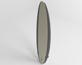 Funboard Surfboard 3D model