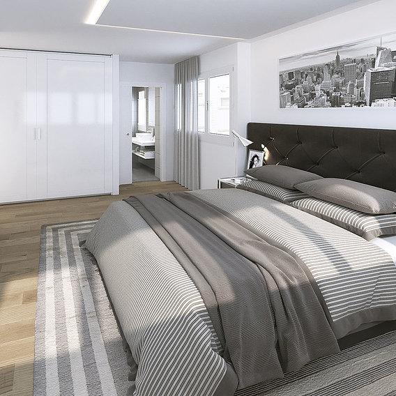 3D MASTER BEDROOM FOR A PROPERTY PROMOTER
