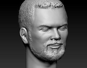 Bearded guy 3D printable model man