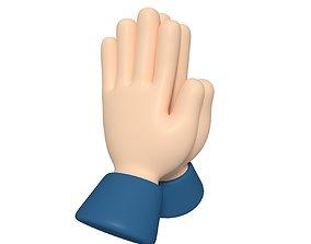 3D model Cartoon Hand - Pray Icon
