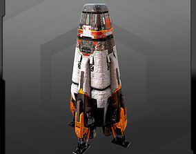 3D asset SF Colony Rocket CF4