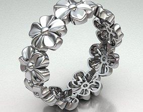FLOWER BAND RING REF-77 3D print model