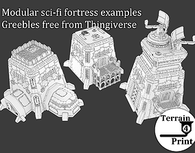 Sci-fi fortress 3D print model
