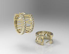 3D print model Earrings with roman numbers