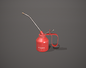 3D model Red Oil Can