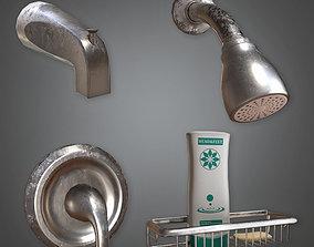 Wall Mounted Shower Set HVM - PBR Game Ready 3D asset