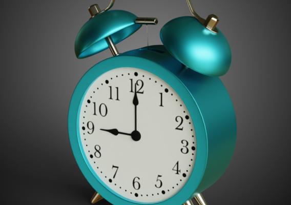 Alarm Clock Low-poly