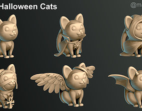 3D print model Halloween Cats