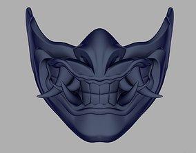 Sub Zero Samurai mask for face from 3D print model 2