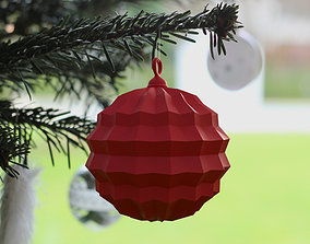 3d 3D Printable Christmasball