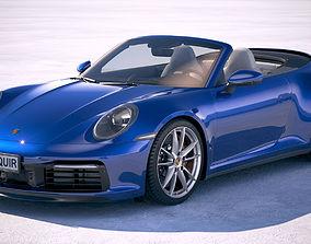 3D Porsche 911 Carrera 4S Cabrio 2019
