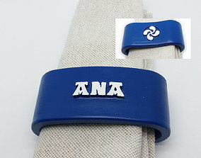 ANA 3D Napkin Ring with lauburu ana