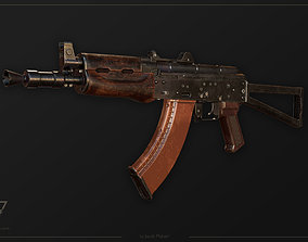 FPS AKS-74U tactical weapon 3D model
