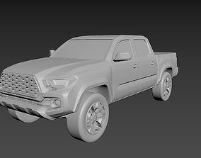 3D printable model Toyota Tacoma 2020 on a small scale