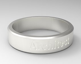 Architect Ring Silver 3D printable model
