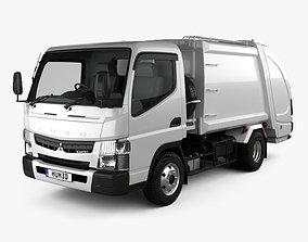 Mitsubishi Fuso Canter Shinmaywa Garbage Truck 2017 3D