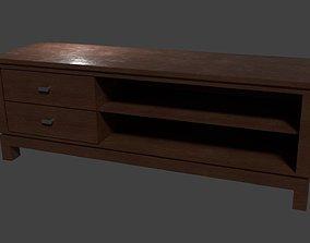 3D asset Wooden TV stand