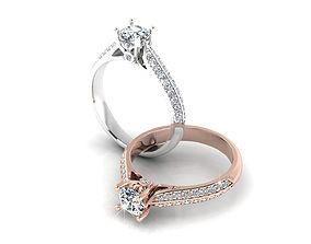 3D print model engagement Diamond Ring 2