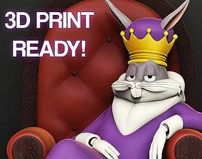 3D printable model Bugs Bunny King Meme