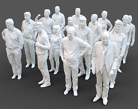 16 Stylized Human Statues Pack V9 3D asset