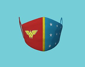 Wonder Woman Covid Mask - Character Fashion 3D model