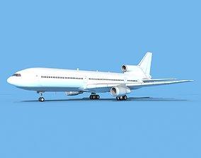 3D model Lockheed L1011 Unmarked 2