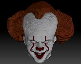 Pennywise From IT movie 3D print model head