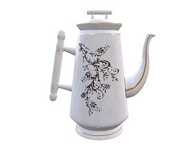 3D asset game-ready Teapot Game Ready