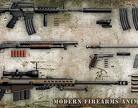 3DRT - Modern Firearms Animated HD Vol3 animated