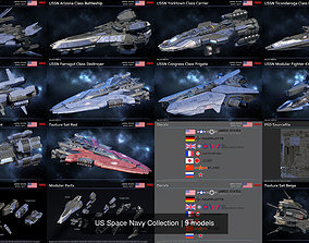 US Space Navy Collection 3D model