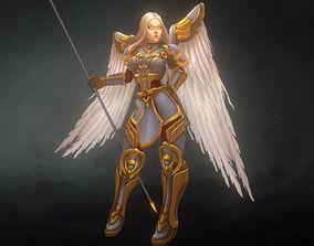 3D model Low Poly Angel Female