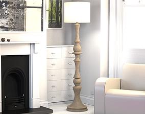 3D model Wooden Floor Lamp