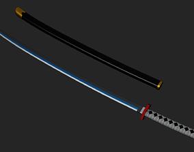 Nichirin Blade from Demon Slayer 3D print model
