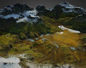 3D Iceland landscape - World Machine