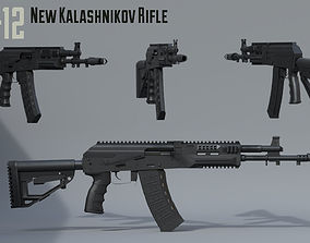 3D model AK12 New Kalashnikov assault rifle