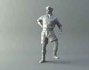 3D printable model Captain miniature II World War