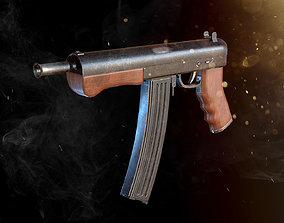 3D asset Custom Machine Gun