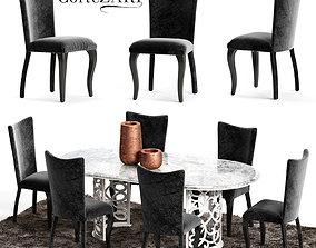 Corte Zari EVA Chair and FLORA Table 3D