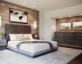 Realistic Interior Corona Bedroom 3D asset