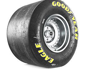Drag wheel goodyear 3D
