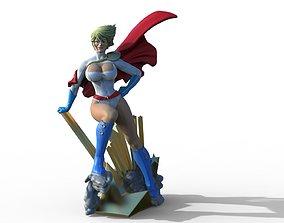 Power Girl from DC comics Superman fanart 3D print model 2