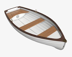 3D Traditional rowing boat 03 v2