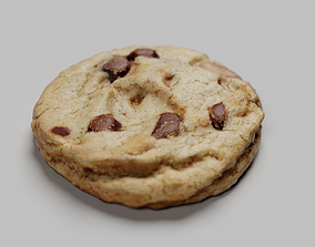 3D model chocolate chip cookie