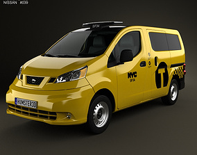 3D model Nissan NV200 New York Taxi 2014