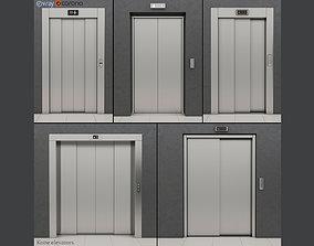 Set of doors for elevators Kone 3D model