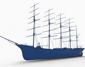 CAP HORN ship 1888 3D printable model