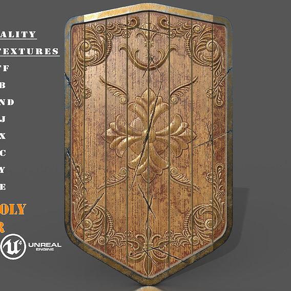 Medieval Wooden Battle Shield