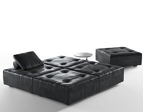 Daybed with Coffee Table 3D